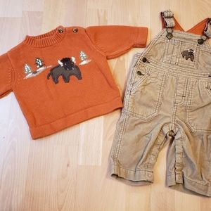 Gymboree Corduroy Overalls with Sweater